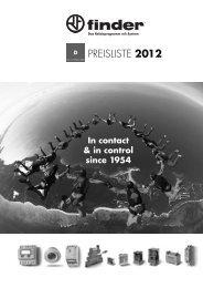 FINDER Preisliste 2012 - hk-industrievertretungen.de