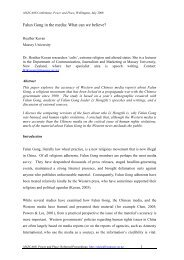 Falun Gong in the media: What can we believe? - Massey University