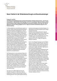 Neuer Chefarzt in der Wirbelsäulenchirurgie und ... - Klinikum Freising