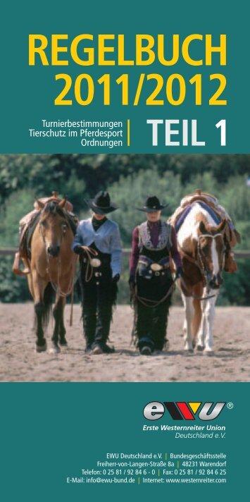 EWU Regelbuch Teil 1 - Erste Westernreiter Union Deutschland e.V.