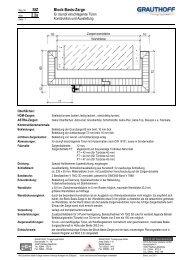 StZ 2.2a Block-Basis-Zarge - Grauthoff Türengruppe