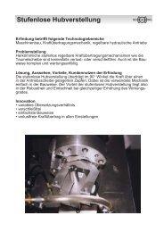 Stufenlose Hubverstellung - VITW Sachsen eV