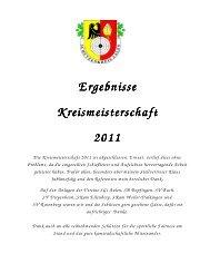 Ergebnisse Ergebnisse Kreismeisterschaft Kreismeisterschaft 2011