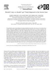 Should I stay or should I go? Natal dispersal in the brown bear