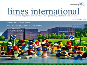 the semester magazine for international partners, students and