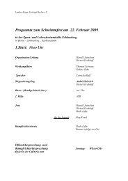 Programm zum Schwimmfest am 22. Februar 2009 - Landes-Kanu ...