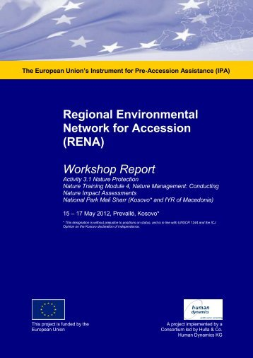 Workshop Report - Regional Enviroment Network for Accession