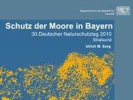 Schutz der Moore in Bayern