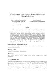 Cross-lingual Information Retrieval based on Multiple Indexes