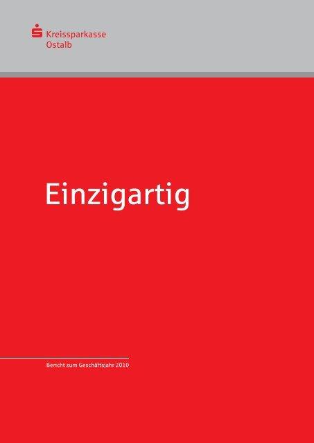 Bericht zum Geschäftsjahr 2010 - Kreissparkasse Ostalb