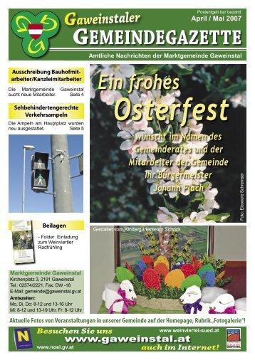 Gazette April/Mai 2007 - Gaweinstal