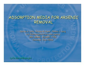 adsorption media for arsenic removal adsorption media for arsenic ...