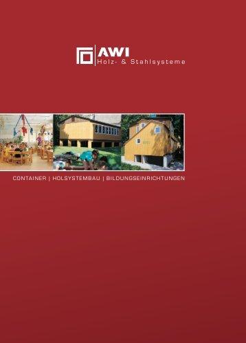 CONTAINER | HOLSYSTEMBAU | BILDUNGSEINRICHTUNGEN
