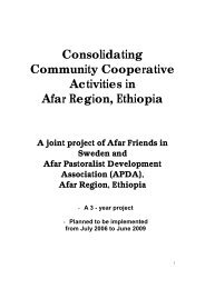 Consolidating Community Cooperative Activities in ... - Afarfriends.org