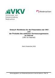 Richtlinie VKV im Internet - BTB Niedersachsen