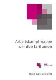 Arbeitskampfmappe der dbb tarifunion - BTB Niedersachsen