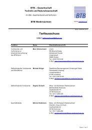 Tarifausschuss - BTB Niedersachsen