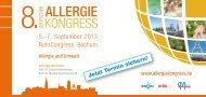 8. Deutscher Allergie Kongress | 05.-07.09.2013, Bochum