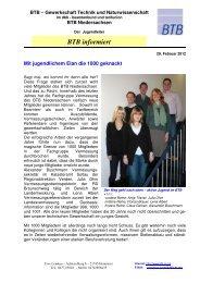 Mitglieder 1000ste Lfgr. Vermessung - BTB Niedersachsen