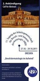 11. Tagung der Arbeitsgemeinschaft für Berufs- und Umwelt ...
