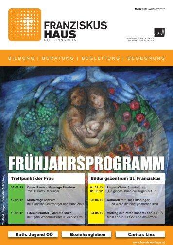 frühjahrsprogramm - Bildungszentrum St. Franziskus - Diözese Linz