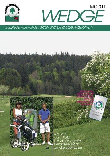 wedge Juli 2011.indd - Golf- und Landclub Haghof