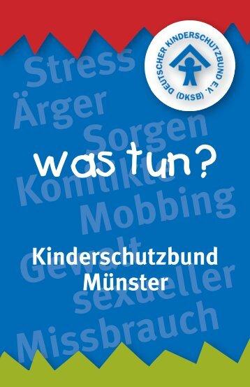 Stress Ärger Sorgen Konfl ikte Sorgen Mobbing ... - Kinderschutzbund