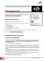 Fokus - 18.03.12 - Umgang mit Sorgen - ICF Zürich