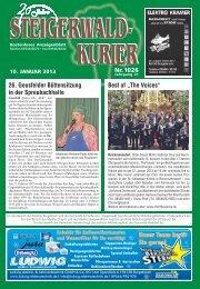 Ausgabe 1026 - Steigerwald-Kurier