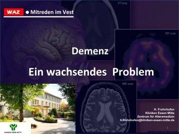 Demenz Ein wachsendes Problem
