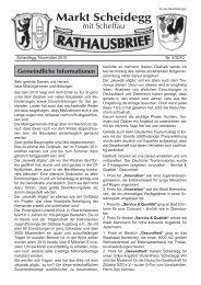 Rathausbrief zum 15. November 2010 - Scheidegg