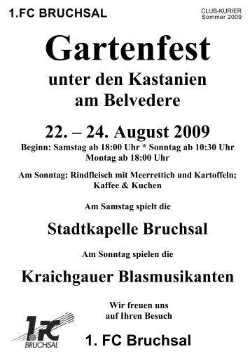 Gartenfest - 1.FC Bruchsal