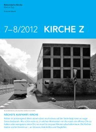 Kirche Z - Juli/August 2012 - Reformierte Kirche Zug