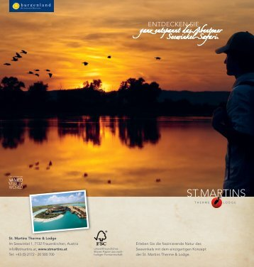 aktuellen Seewinkel Safari Folder! - St. Martins Therme & Lodge