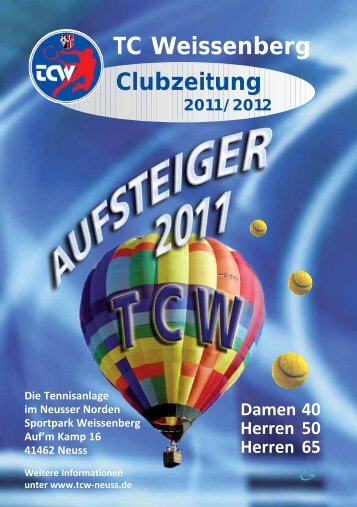 TC Weissenberg Clubzeitung - TC Weissenberg e.V.