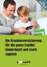 Die Krankenversicherung für die ganze Familie ... - sana24 - Die