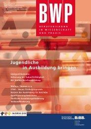 BWP-Sonderausgabe: Jugendliche in Ausbildung bringen - BiBB