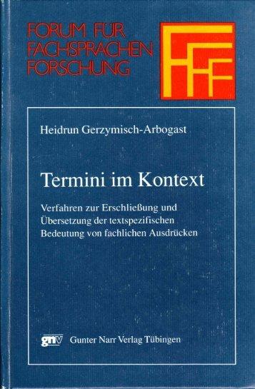 Termini im Kontext - Translation Concepts