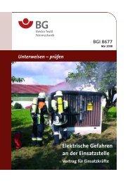 Elektrische Gefahren an der Einsatzstelle - BGI 8677