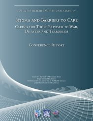 stigma and barriers to care - Uniformed Services University of the ...