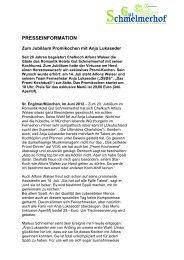 Pressemeldung Anja Lukaseder 14.07.2012 - Romantik Hotel Gut ...