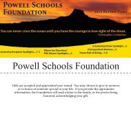 Powell Schools Foundation - Park County School District #01