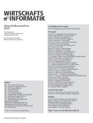 WI: Jahresinhaltsverzeichnis 2005 - Wirtschaftsinformatik Online
