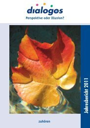 Jahresbericht 2011 - Dialogos