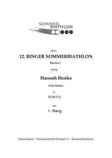 12. BINGER SOMMERBIATHLON Hannah Henke