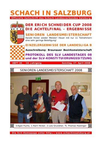 16. Jahrgang - Heft 30 - Schach-Landesverband Salzburg