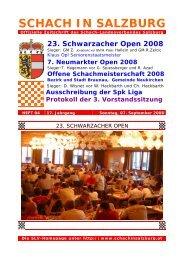 23. Schwarzacher Open 2008 - Schach-Landesverband Salzburg