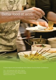 Better food at work - the Nordic and Baltic - VBN - Aalborg Universitet