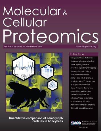 Front Matter (PDF) - Molecular & Cellular Proteomics