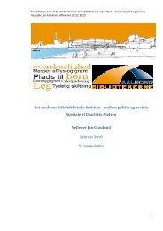 Det moderne folkebiblioteks funktion - mellem politik og praksis ...